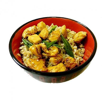 Горячие «Рис с курицей и чесноком»