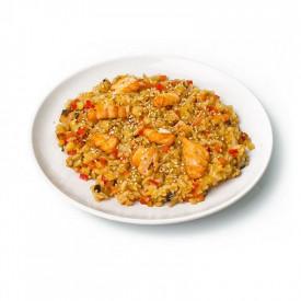 Горячие «Рис с лососем»